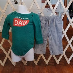 💚6-9m baby boy team dad outfit💚